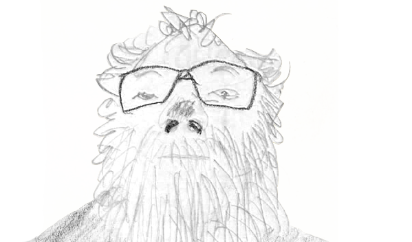 Drawn portrait of Linus
